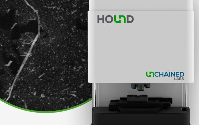 Track and Identify Microplastic Contaminants with Hound